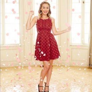 Disney Minnie Red Dots Lauren Conrad Dress NWT 14